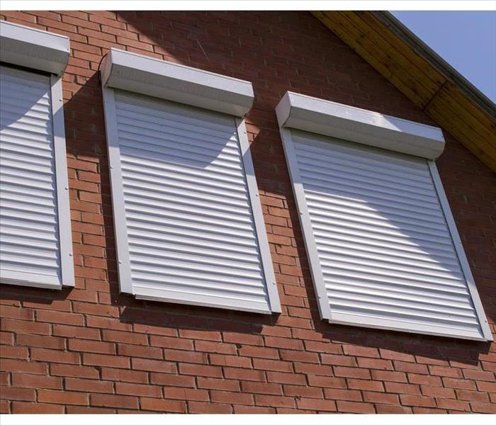 Roll down shutter. Like the name says, this type of shutter rolls down over your window